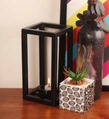 Black Cube Tea Light 1